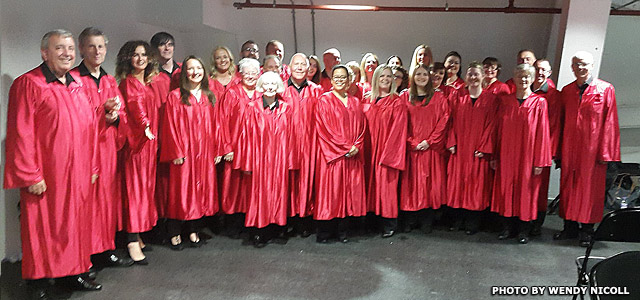 ACEchous in red robes ready for concert