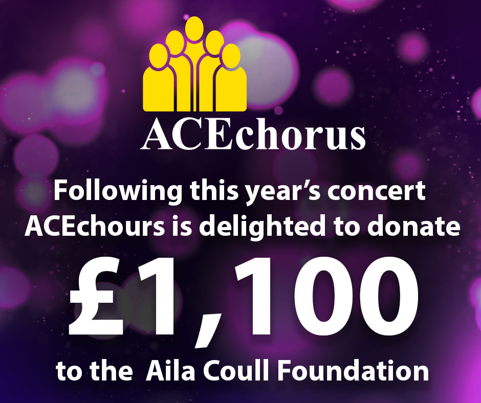 Ace is delighted to donate £1100 to The Alida Foundation